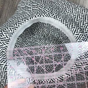 Accessories - Floppy Sun Hat Black White Pattern